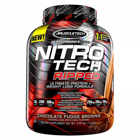 Nitro-Tech Ripped - 4lbs - Chocolate Fudge Brownie