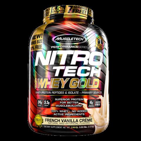 Nitro-Tech 100% Whey Gold - 5.53lbs - French Vanilla Creme