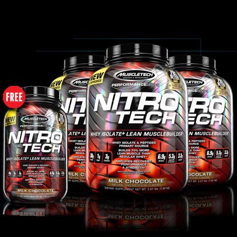 Set: Nitro-Tech x3 Free Nitro-Tech 2 lbs