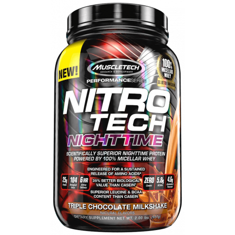 Nitro-Tech Nighttime - 2lbs - Triple Chocolate Milkshake